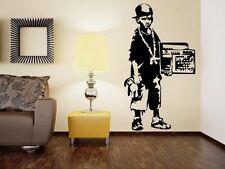 Banksy Street Gangster Boy -  Vinyl Wall Stickers. Amazing Decal BEST Quality UK