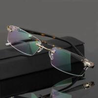 Randlose Brillenfassungen Herren Brillen Brillengestelle Rechteckig Männer Rx