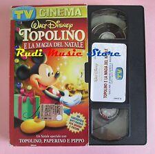 film VHS TOPOLINO E LA MAGIA DEL NATALE TV SORRISI  CARTONATA (F166***) no dvd