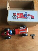 NEW COLLECTORS CAR MS447 TIN PLATE WIND UP RACING CAR