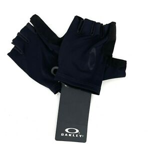 Oakley Half Finger Black Cycling Mitt Gloves NWT Unisex Small