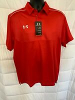 Under Armour Men's UA Team Colorblock Polo Loose Fit Med Heat Gear New B-5