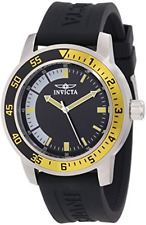 "NWT Invicta Men's 12846 ""Specialty"" Black Band Stainless Steel Watch"