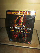 THE HUNGER GAMES & CATCHING FIRE 2 X MOVIE DVD BOX SET *NEW & SEALED UK SELLER*