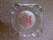 Old vintage Ashtray Mobil gas Van Drisse Oil Luxemburg New Franken Wisconsin