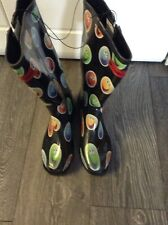 Ladies Women's Emoji Wellington Boots Size 7