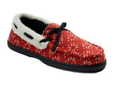 Urban Pipeline Men Nordic Moccasin Slippers Red White Black Large US 10-11