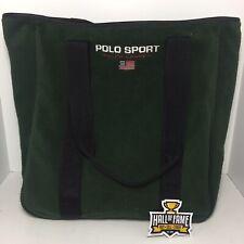 Vintage Polo Sport Ralph Lauren Green Fleece Tote Travel Bag