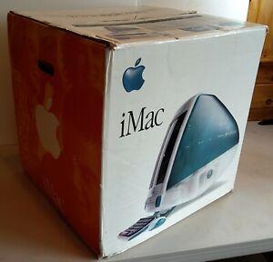 1998 Bondi Blue G3 Apple iMac Desktop Computer Complete in Original Box WORKING