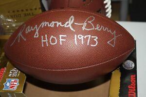 BALTIMORE COLTS RAYMOND BERRY #82 SIGNED WILSON NFL FOOTBALL HOF 1973 JSA