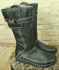 "MBT SWISS ""GOTI"" TONING SHAPING BLACK LEATHER BOOTS SIZE 9.5US/40EU VGC!"