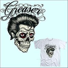 * T-Shirt Tattoo Rockabilly Skull Style Greaser Pychobilly  *1080