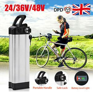 24/36V/48V E-Bike Battery E-Bicycle Li-ion Pack Lockable with USB Port & Bracket