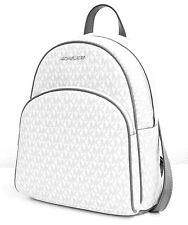 Michael Kors Backpack Bag Abbey Md Signiatur Backpack White New
