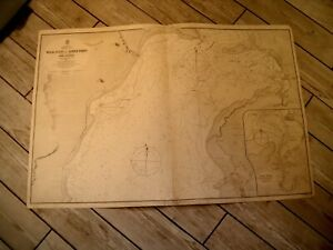 Vintage Admiralty Chart 403 SOUTH AUSTRALIA - SPENCER GULF 1865 edn