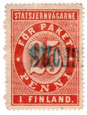 (I.B-CK) Finland Railways : Parcel Stamp 25p (State Railway)