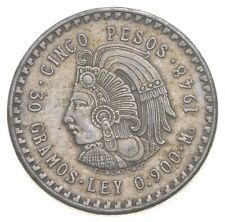 SILVER - WORLD COIN - 1948 Mexico 5 Pesos - World Silver Coin *666
