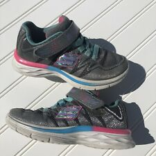 Girls Sketchers Sneakers Size 11 Blue Pink Gray Shimmer
