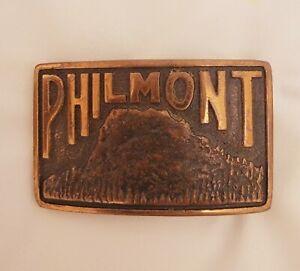 BSA, Vintage Philmont Scout Ranch Copper Belt Buckle 1940s