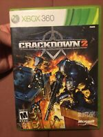 Crackdown 2 (Microsoft Xbox 360, 2010) With Case Manual Agency Helicopter Card