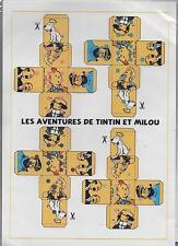 HERGÉ. Maquette pour construire 4 cubes Tintin.