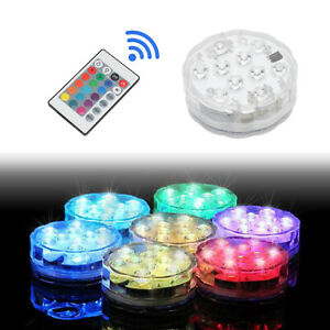 Submersible Pool Ponds Vase LED Light Waterproof Underwater Remote RGB Colors UK
