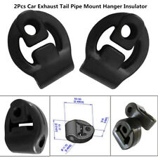 2 Pcs Car Rubber Exhaust Tail Pipe Mount Bracket Hanger Insulator Black Unique