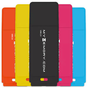MyMemory 8GB Neon USB 2.0 Flash Drives USB Memory Stick Storage Drives 5 Pack UK