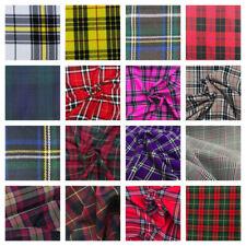 Fashion Viscose Tartan Plaid Check Polyviscose Fabric 150cm Wide FREE P&P UK