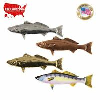 Pewter White Seabass Fish Lapel Pin or Refrigerator Magnet, Made in USA S013