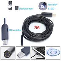 7 M Endoskop Video Rohrkamera 6 LED USB Inspektions kamera Wasserdicht Endoscope