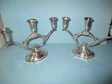 Pair of Silver Plate ETERNALLY YOURS CANDELABRA Candlestick Candle Holders