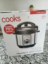Cooks Fast Pot Jr. Multi Cooker- NEW -stainless steel- 2QT Fast Free Shipping