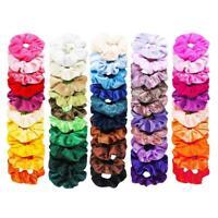 50pcs Velvet Scrunchies Women Elastic Hairband Hair Rings Ponytail Holder #N11