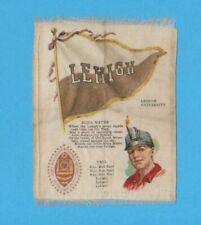 c1910s S23 tobacco silk Lehigh University Mascot college cheer silk