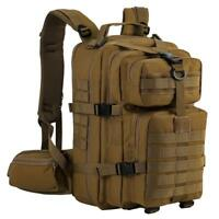Military Tactical Backpack Assault Pack  Army Molle Bug Out Bag Sport Bag Tan