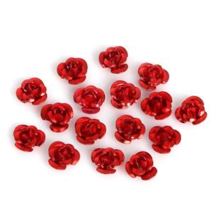 950pcs 6-15mm color Aluminum Rose Flower Metal Beads DIY Jewelry Accessories
