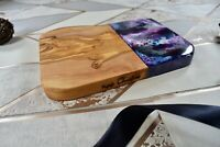 Olive Wood Resin Luxury Chopping Boards Cheese Tapas 20cm - 40cm Christmas Gift