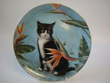 DANBURY MINT CATS AND FLOWERS BEAUTY AND THE BEES PLATE