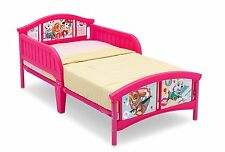Delta Plastic Metal Toddler Bed Frame Pink Nick Jr Paw Patrol Puppy Dogs NEW