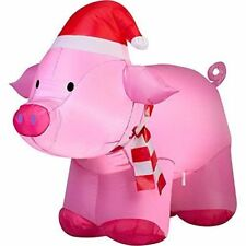 PINK PIG 3' CHRISTMAS GEMMY AIRBLOWN INFLATABLE LIGHT UP YARD DECOR
