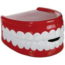 "Keramik-Spardose Spar-Dose Sparbox Money Box ""Gebiss"" - rot/weiß - ca. 15 x 9 cm"
