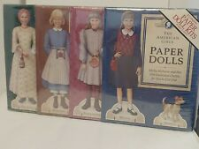 The American Girls Paper Dolls 4 Complete Paper Doll Kits