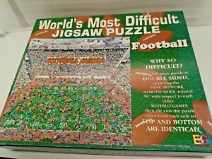 529 piece World's Most Difficult FOOTBALL edtion Jigasw Puzzle- complete!!