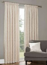 "Julian Charles Baroque Curtains Thermal Lined 44"" x 90"" Cream"
