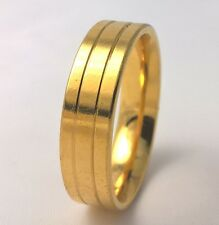 G-Filled Mens 18k yellow gold wedding band 6mm ring comfort US size 9.75 AU T1/2