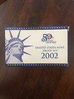 2002 United States US Mint 10pc Clad Proof Set