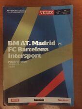 Programa handball Balonmano Atletico Madrid vs. FC Barcelona Champions 12/13