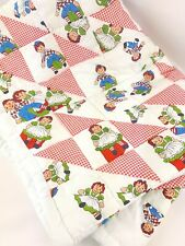 New listing Vintage Raggedy Ann and Andy Quilted Blanket Baby Toddler Warm Nursery Decor