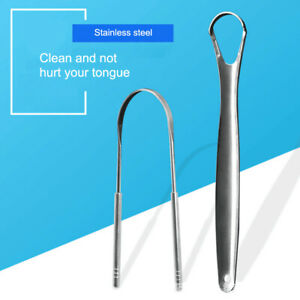 2X Tongue Scraper Cleaner Professional Eliminate Bad Breath for Oral Care Home